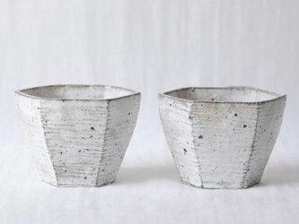 六角鉢 白(再販)の画像