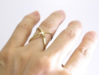 K18YG LOVE Ring『KISS』の画像
