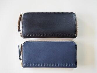 コの字ファスナーの定番長財布 / ネイビーの画像