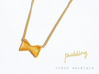 ribon necklace〈gold〉の画像