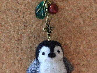 羊毛フェルト 野鳥チャーム(仔ペンギン)の画像