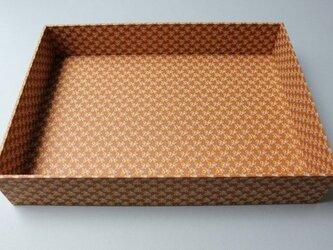 【ご予約済み】包装紙のデスクトレーの画像