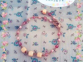 *baby pink* ブレス+ピアスセットの画像