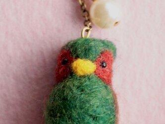 羊毛フェルト 野鳥チャーム(キジ)の画像