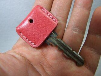 ピンクのキーカバー の画像