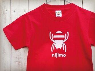 nijimo KIDS Tシャツ〈レッド〉の画像