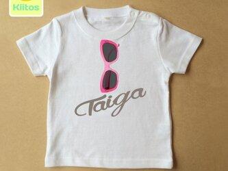(size70~120)名前入りTシャツ【サングラス】の画像