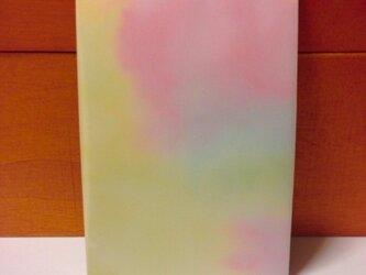 水彩模様のグラデーションメモ帳の画像