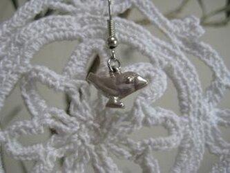 [再出品] 文鳥ピアス(桜)silverの画像