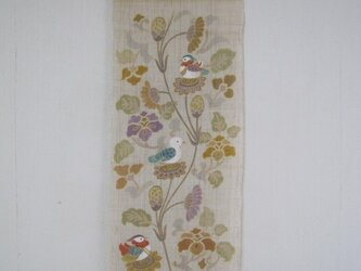 更紗にオシドリ 手描き タペストリーの画像