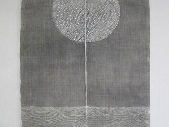 月に波  手染めのれんの画像