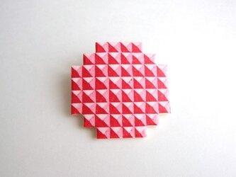 :Sale: ブロックブローチ/ 円(赤)の画像