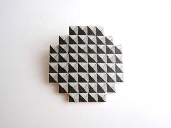 :Sale: ブロックブローチ/ 円(黒)の画像