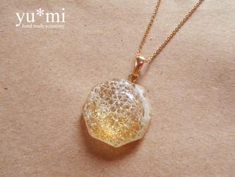 kirakira*八角形ネックレス【ゴールド】の画像