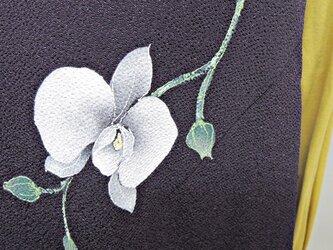 丹後縮緬チュニック・ワンピース*西陣手描き*胡蝶蘭の画像