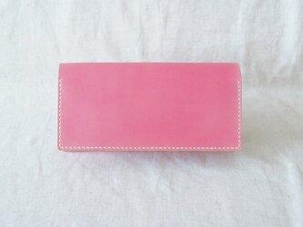 [オーダーご依頼品] 長財布 《 Rose Pink & Natの画像