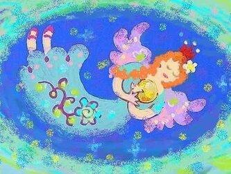 青い天使・ポストカードの画像