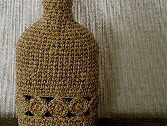 編みぐるみビン「kurumu」麻ひも+丸モチーフライン aの画像