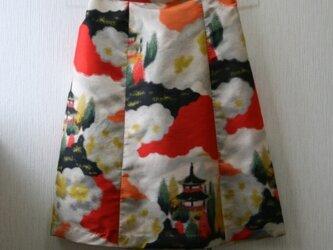 絹 銘仙 五重塔 ゴムスカート SMサイズ の画像