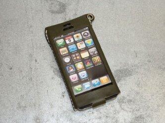 Iphone5用レザーケース ミドリの画像