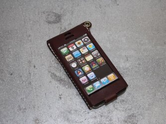 Iphone5用レザーケース チョコの画像