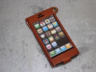 Iphone5用レザーケース キャメルの画像