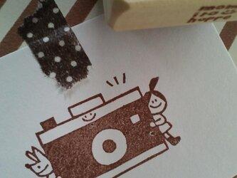 消しゴムはんこ  カメラさんからこんにちは*(ポニーちゃん)の画像