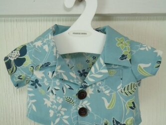 ダッフィーお洋服 アロハシャツ(ブルー)の画像