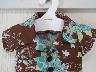 ダッフィーお洋服 アロハシャツ(ブラウン)の画像