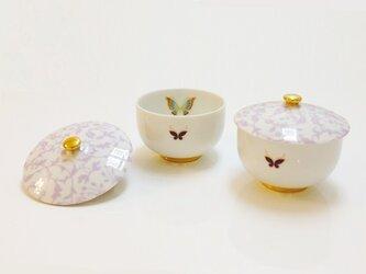 【アウトレット】アラベスクと蝶の煎茶椀・ペアの画像