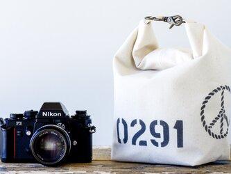 ロールバック カメラポーチ(キナリ)[受注生産]の画像