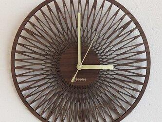 壁掛時計 SUN (ウォールナット)の画像