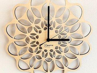 壁掛時計 FLOWER (メープル)の画像
