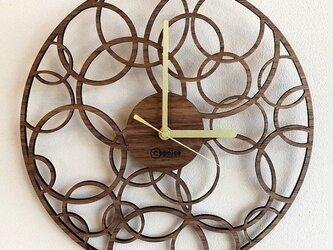 壁掛時計 BUBBLE (ウォールナット)の画像