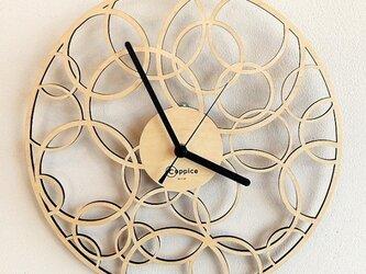 壁掛時計 BUBBLE (メープル)の画像