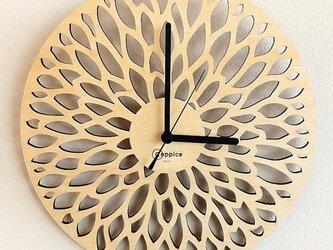 壁掛時計 DAHLIA(メープル)の画像