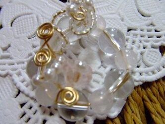 水晶とローズクウォーツのペンダントトップの画像