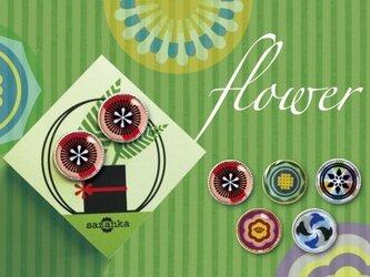 花束ピアス 全5種〈sazanka〉の画像