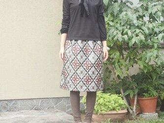 銘仙の毎日スカート(大島紬風・M)の画像