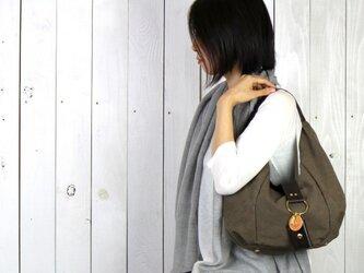 polta mini-オリーブ(タンニン染め帆布×レザーバッグ)の画像
