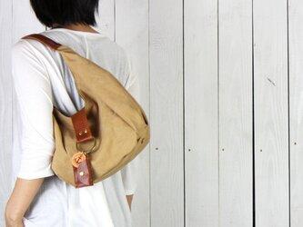 polta mini-タン(タンニン染め帆布×レザーバッグ)の画像