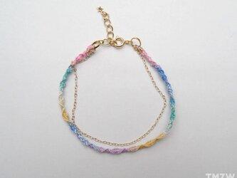 編みブレス -水際-の画像