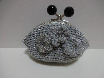 シルバーラメのプチポーチの画像