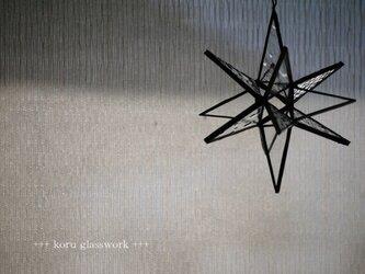 【再販】ステンドグラス 星のサンキャッチャーの画像