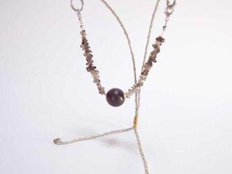 マグネット式羽織紐(スモーキークォーツ)の画像