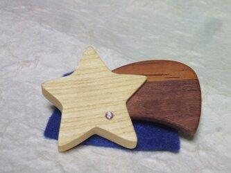 流れ星のブローチの画像