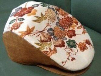 ハンチング帽子(正絹紅型染め)の画像