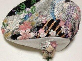 ハンチング帽子(正絹京染め)の画像