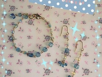 *baby blue* ブレス+ピアスセットの画像