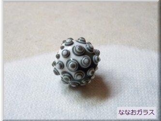 tsubutsubu幾何学模様のとんぼ玉の画像